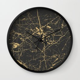 Marble Black Gold - Young Forever Wall Clock