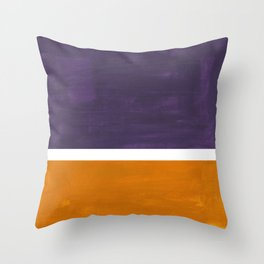Purple Yellow Ochre Rothko Minimalist Mid Century Abstract Color Field Squares Throw Pillow