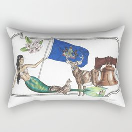 Pennsylvania Mermaid Rectangular Pillow