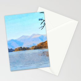 Mountains Behind Derwentwater, Lake District, Cumbria, UK Stationery Cards