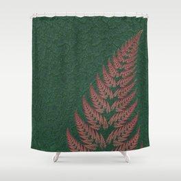 Fall Fern Fractal Shower Curtain