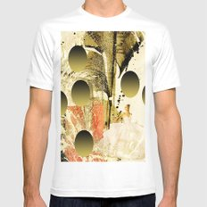 White dream White MEDIUM Mens Fitted Tee