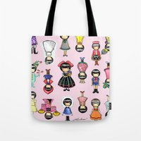girly Tote Bags featuring Girly by Ho Man Law