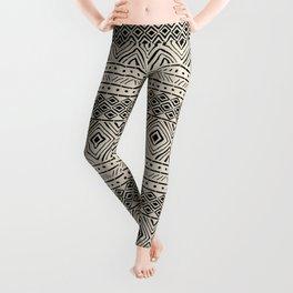 African Mud Cloth // Bone Leggings