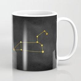 Leo Zodiac Constellation in Gold Coffee Mug