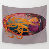 rapunzel Wall Tapestries featuring Rapunzel - Tangled by Teo Hoble