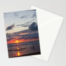Fisherman on the atlantic ocean in France Stationery Cards