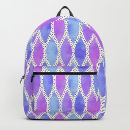 Periwinkle Watercolour Scales Backpack