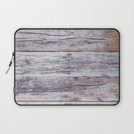 Rustic distressed western country old barn beige light grey woodgrain Laptop Sleeve