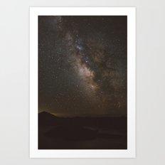 Milky Way over Crater Lake Art Print