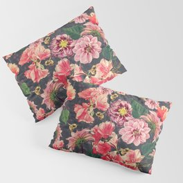 Vintage Flowers and Bees Pillow Sham