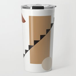 BALCONE ALLA LUNU - Moon at the balcony - Modern abstract art illustration Travel Mug