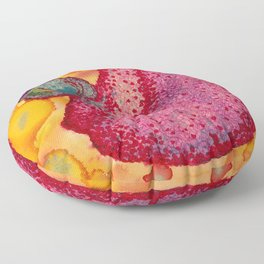 Malaria parasite Invading Red Blood Cell Floor Pillow