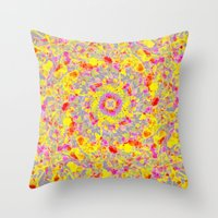 psychedelic Throw Pillows featuring Psychedelic by Sandra Arduini