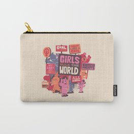 Girls Rule The World Carry-All Pouch