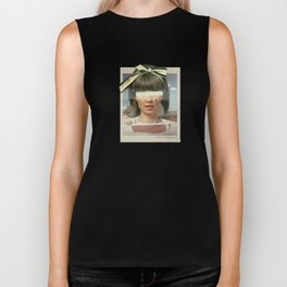 Tears In The Typing Pool | Collage Biker Tank