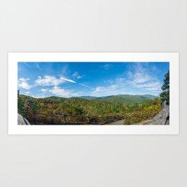 Great Smoky Mountains - Cataloochee Overlook Art Print