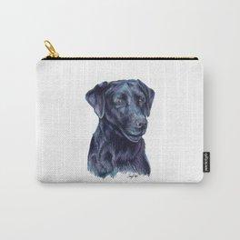 Black Labrador Retriever - Dog Portrait Carry-All Pouch
