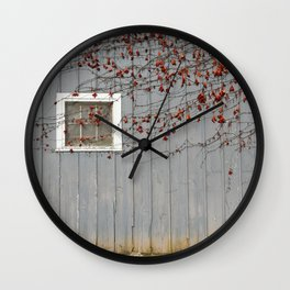 Blue Fall Wall Clock