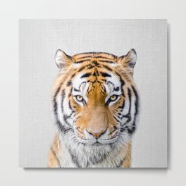 Tiger - Colorful Metal Print
