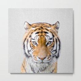 Tiger - Colorful Metal Print