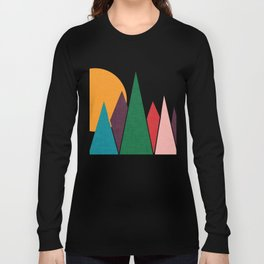 solar mountain #homedecor #midcentury Long Sleeve T-shirt