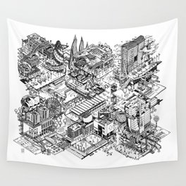 ARUP Fantasy Architecture Wall Tapestry