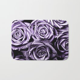 Vintage Purple Roses Bath Mat