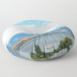 Cloudy summer day at Wanaka, New Zealand Floor Pillow