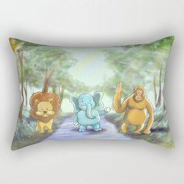 Jungle Friends  Rectangular Pillow