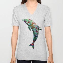 Animal Mosaic - The Dolphin Unisex V-Neck