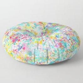 Spring Confetti Brushstrokes Floor Pillow