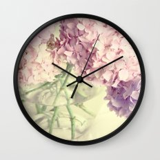 Soft Pink Summer Flowers Wall Clock
