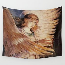 Angel With A Lamp by Victor Vasnetsov Wall Tapestry