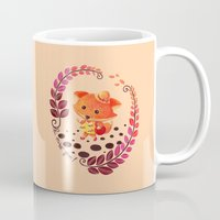 alisa burke Mugs featuring Hello Miss Fox!! by haidishabrina