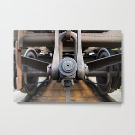 Old rusty train Metal Print