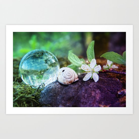COLLECTION »CRYSTAL BALL«   Forest Beauties Art Print