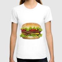 hamburger T-shirts featuring Triangular HAMBURGER by JOlorful