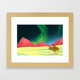 The Northern Lights Framed Art Print