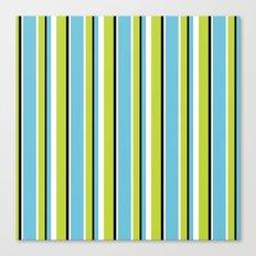 Fun Stripes blue green Canvas Print