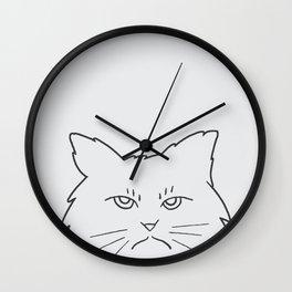 Angry Kitty Wall Clock