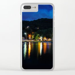Lagoon Lights Clear iPhone Case