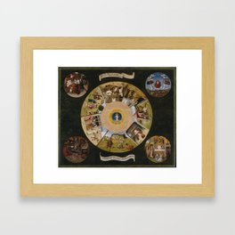 The Seven Deadly Sins and the Four Last Things Framed Art Print