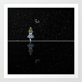 Alice In Wonderland Starry Night Art Print