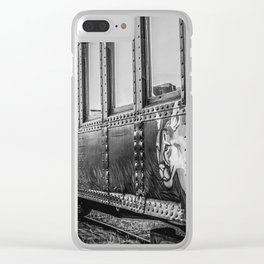 Skunk Train Side View Clear iPhone Case