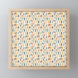 Rainbow Confetti Pattern Framed Mini Art Print