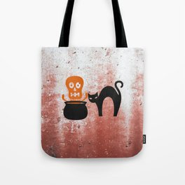 The Skeleton In The Witches Pot Tote Bag
