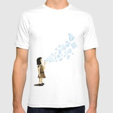 Bubbles Mens Fitted Tee MEDIUM White