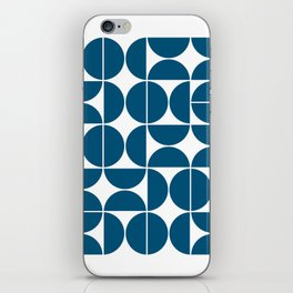 Mid Century Modern Geometric 04 Blue iPhone Skin