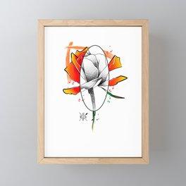Flower art Framed Mini Art Print